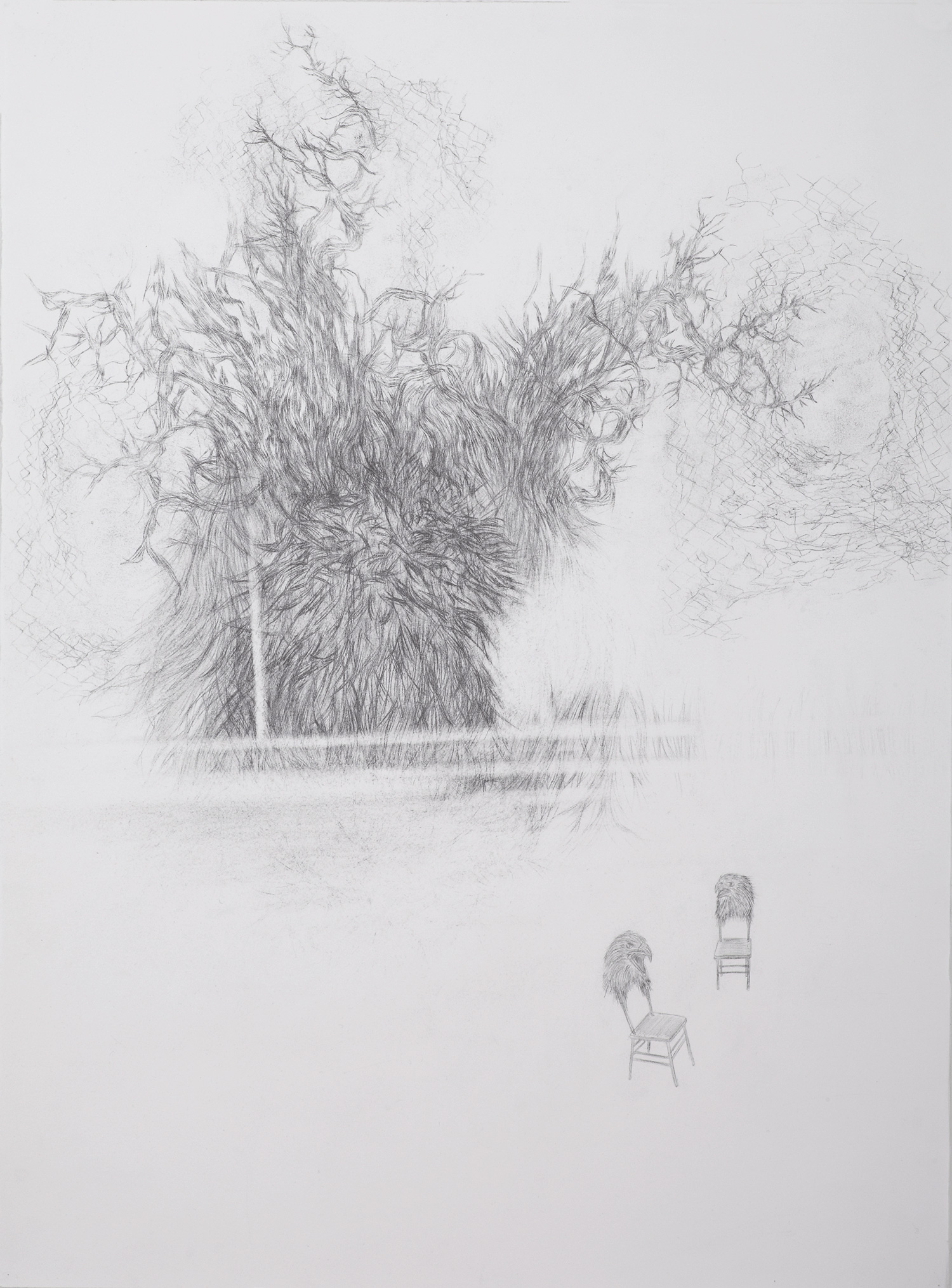 <i>L'arbre de cocteau</i>, 2013, graphite, 80x60cm