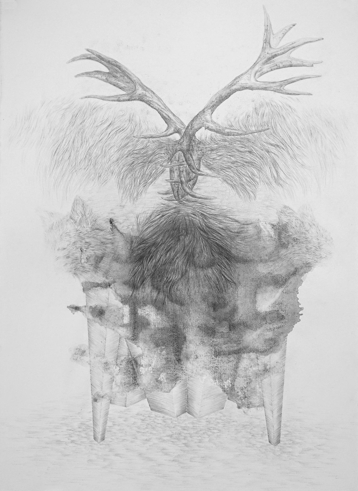 <i>autel</i>, 2018, graphite, 76x56cm