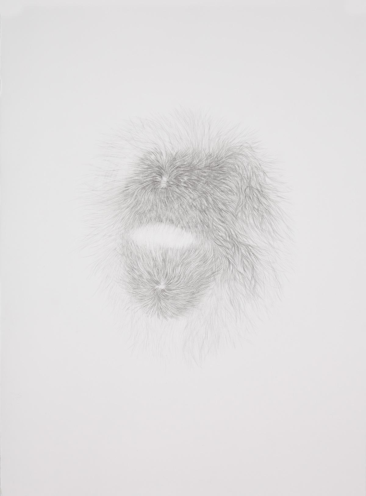 <i>Derrière les secrets (bourka)</i>, 2016, graphite, 80x60cm