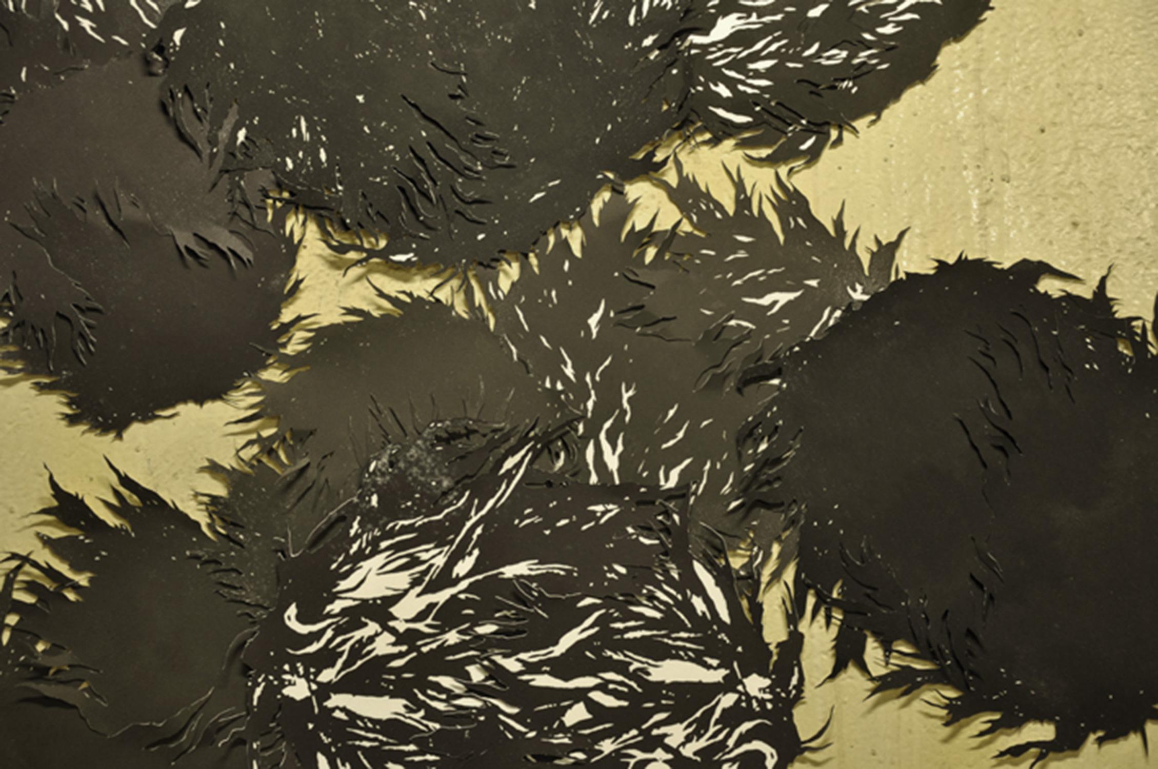 <i>Les choses noires</i>, 2010, détail