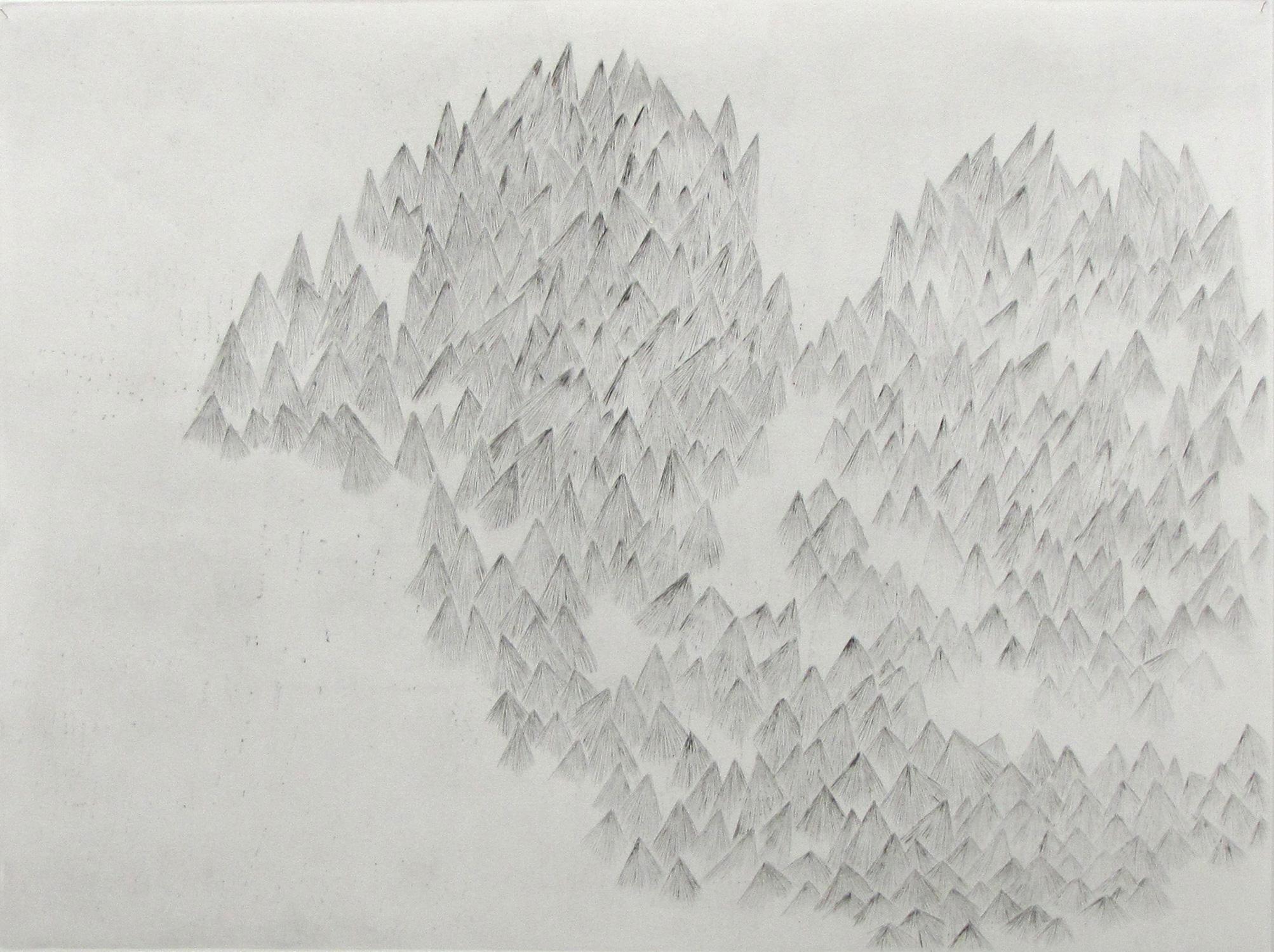 <i>lieu dit</i>, 2008, pointe sèche, 65x80cm