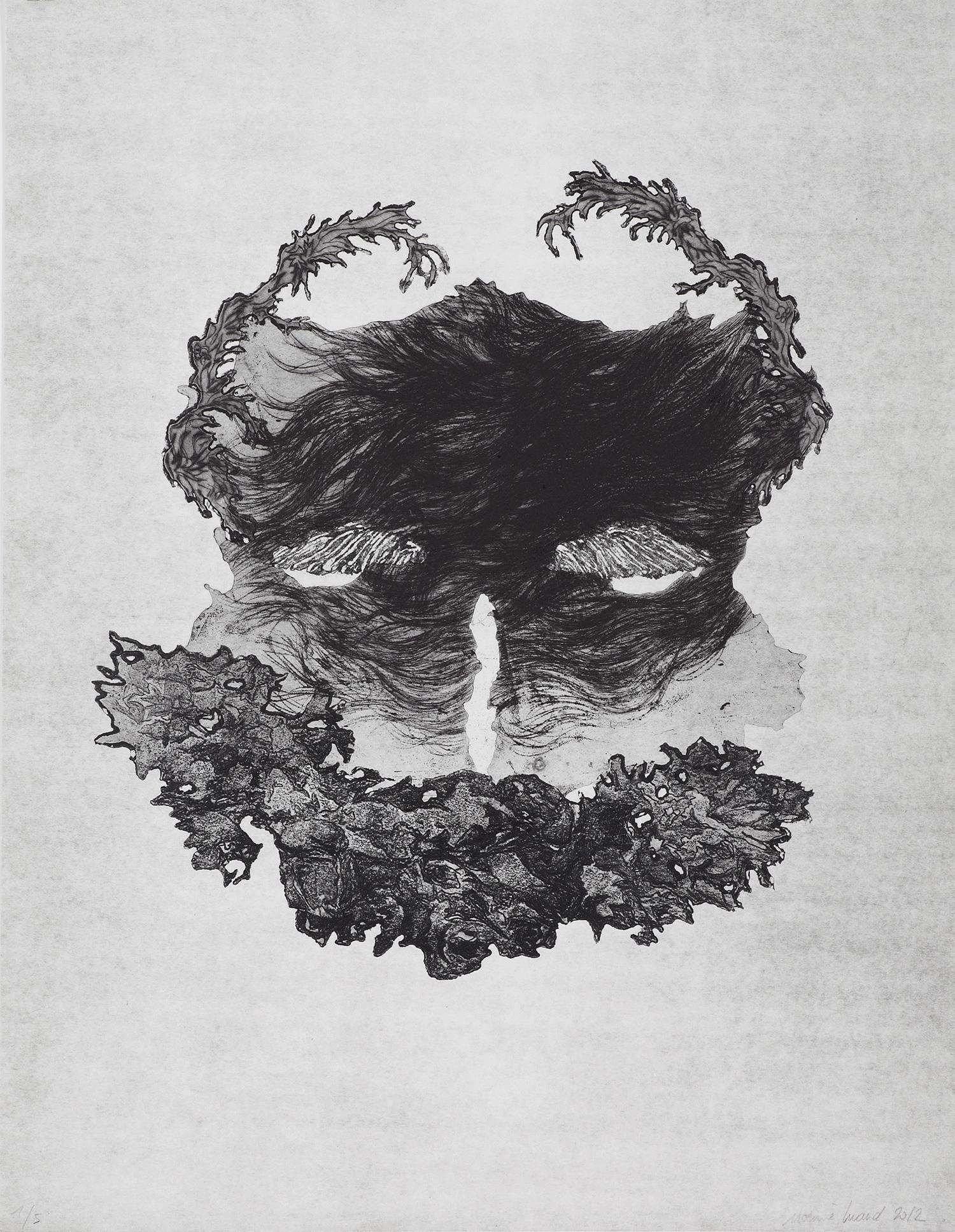 <i>sans titre</i>, 2012, vernis mou et pointe sèche, 50x40cm