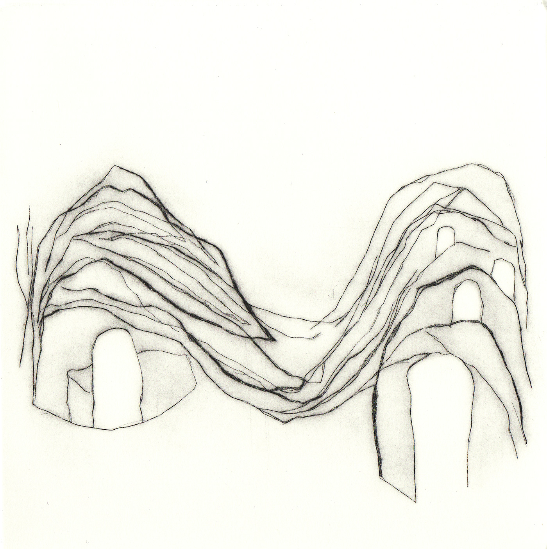 <i>paysage</i>, édition encrage, 2007 - gravure, pointe sèche