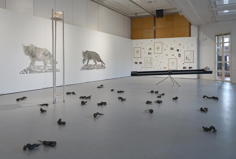 exposition <i>Hors des rets</i>, 2018, Espace Le Polaris, Corbas/Lyon, avec Yannick Vey