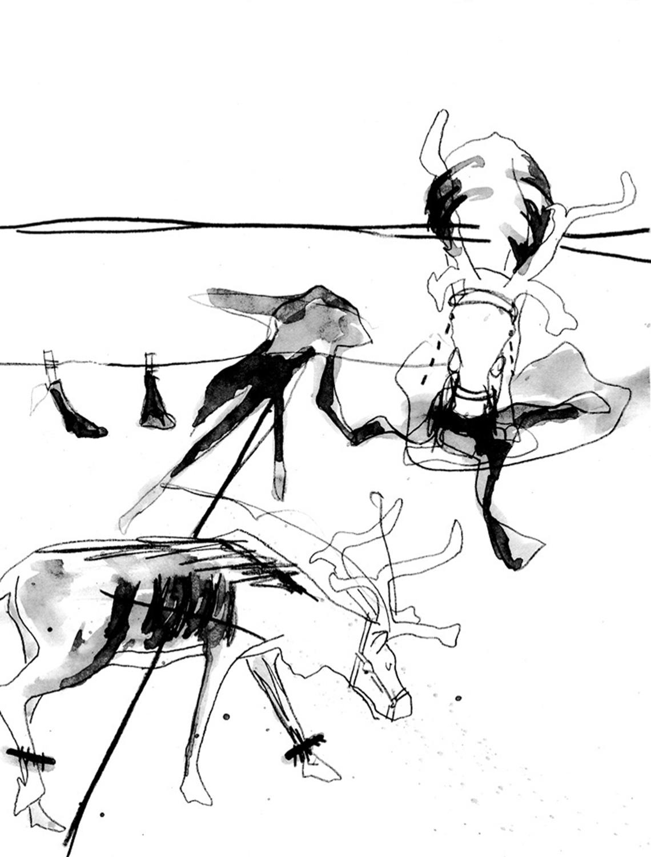 dessin original <i>'Strapontin'</i>