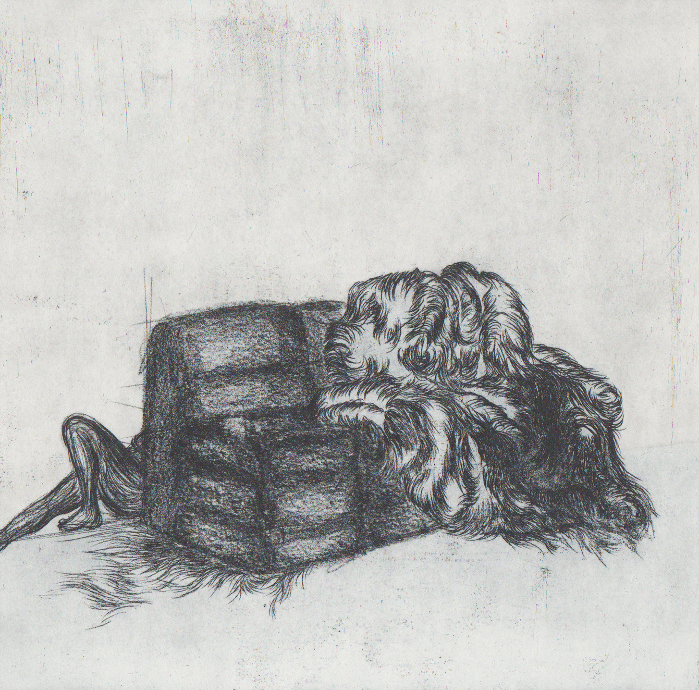 <i>Roseros</i>, édition encrage alma, 2014 - gravure, verni mou