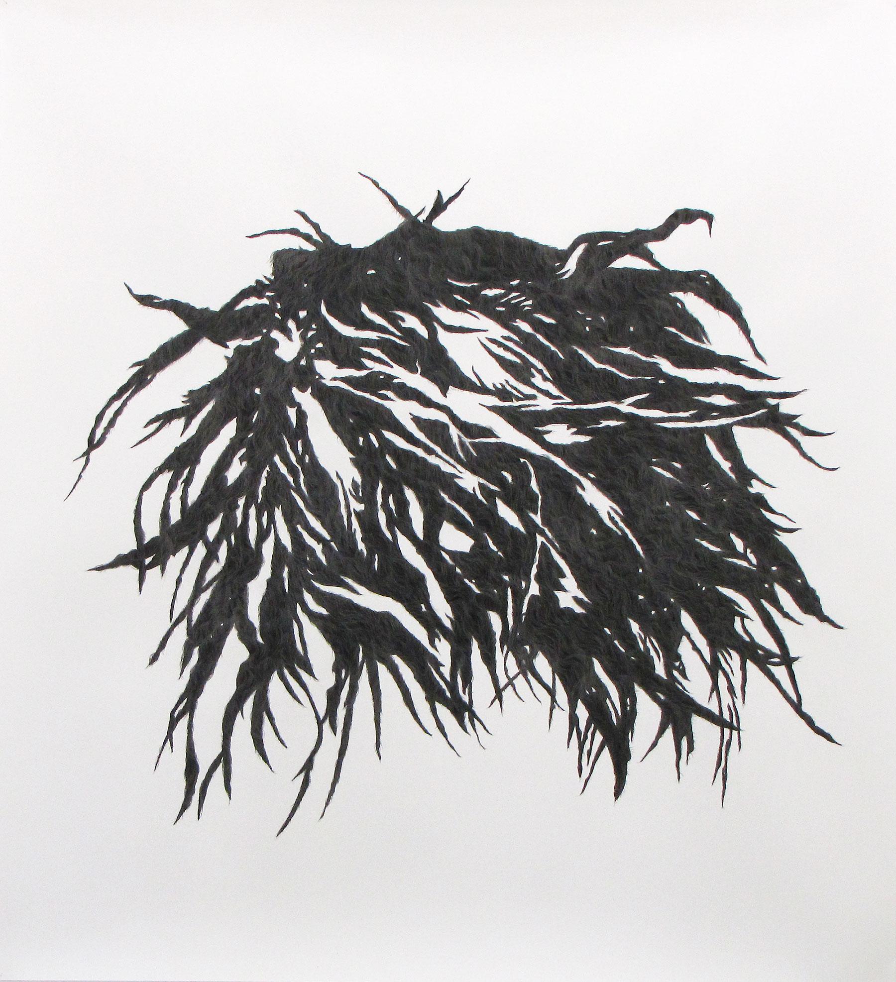 <i>sans titre</i>, 2009, encre de chine et graphite, 160x150cm