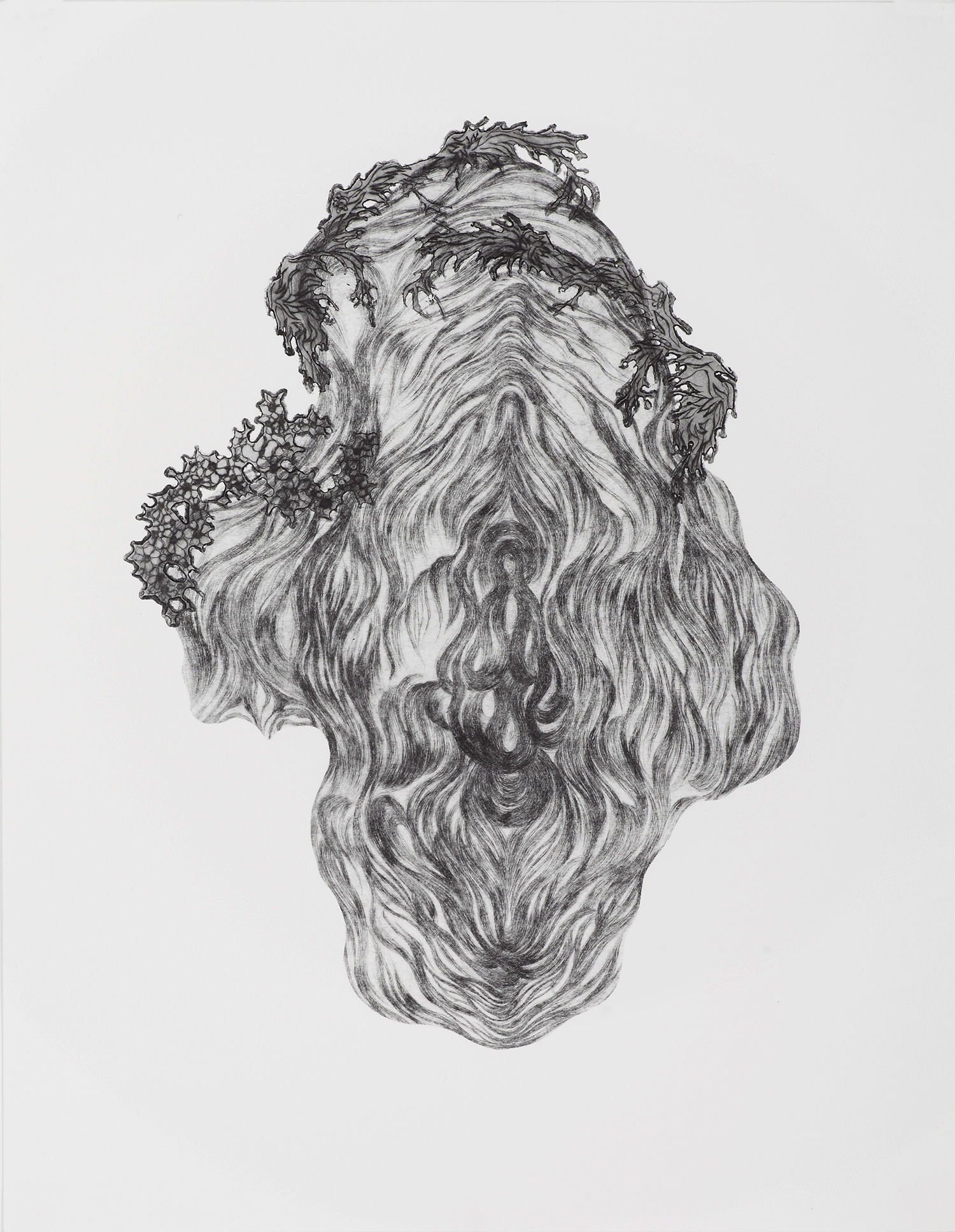 <i>sans titre</i>, 2012, pointe sèche, 50x40cm